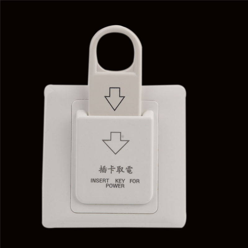 Free Shipping 86x86mm Hotel Magnetic Card Electric Switch 220V/25A Push Button Insert Key Electrical Power Control Socket