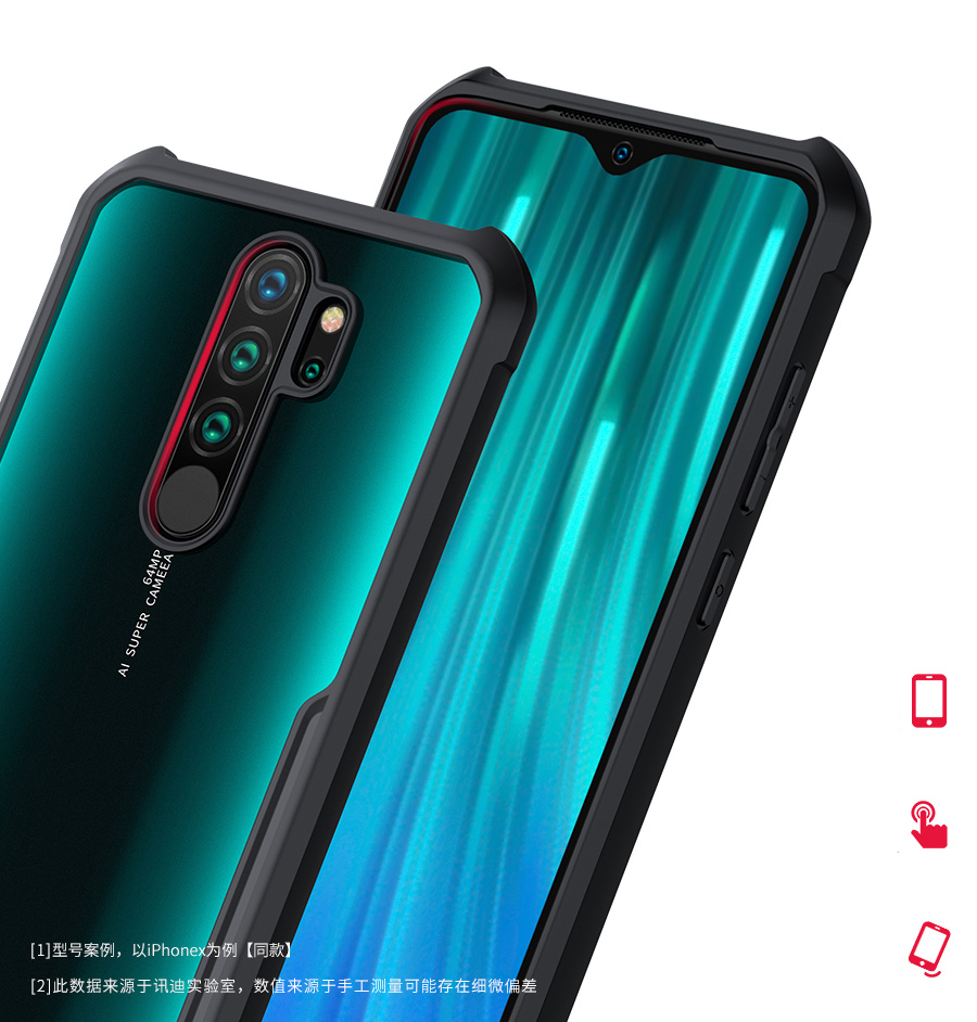 H896232a190ab4fb08fac53a38f60048ak For Xiaomi Redmi Note 8 чехол XUNDD Airbags Shockproof Transparent PC +TPU Bumper Back Cover for Redmi Note 8 Pro Case Funda
