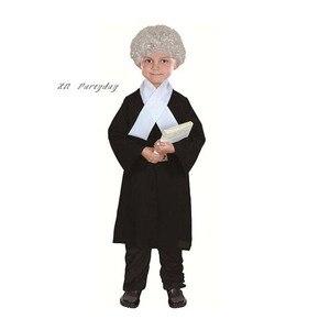 Image 2 - Novas crianças menino menina advogado traje crianças juiz trajes cosplay traje de halloween para crianças festa vestido suprimentos