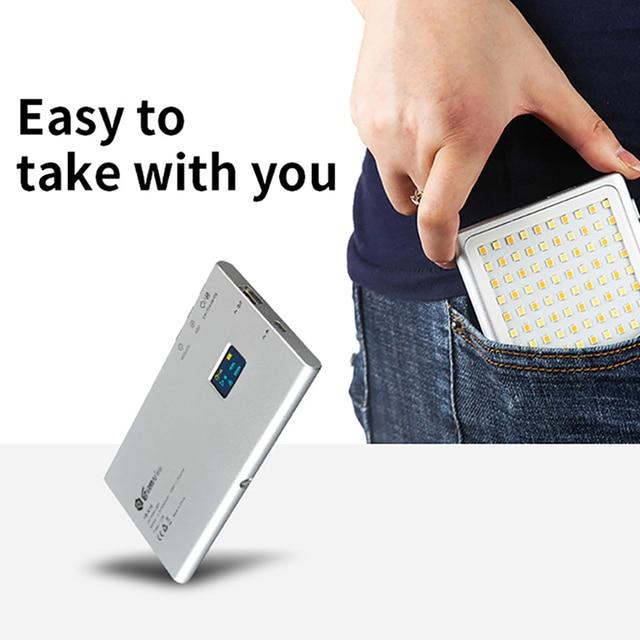 جيب صغير 180 LED الفيديو الضوئي Vlog لايف ستريم التصوير الإضاءة ل DSLR الهاتف الذكي مصباح محمول مع المزدوج الباردة الحذاء
