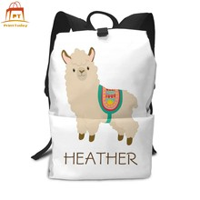 Anime Backpack Cute Llama Custom Name Backpacks Teen High quality Bag Multifunctional Men - Women Trend Bags