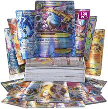 100 шт., карты Pokemon, без дублирования, ультра Редкие карты TCG Style Holo EX Full Art : 20 GX + 20 Mega + 59 EX Arts + 1 Energy