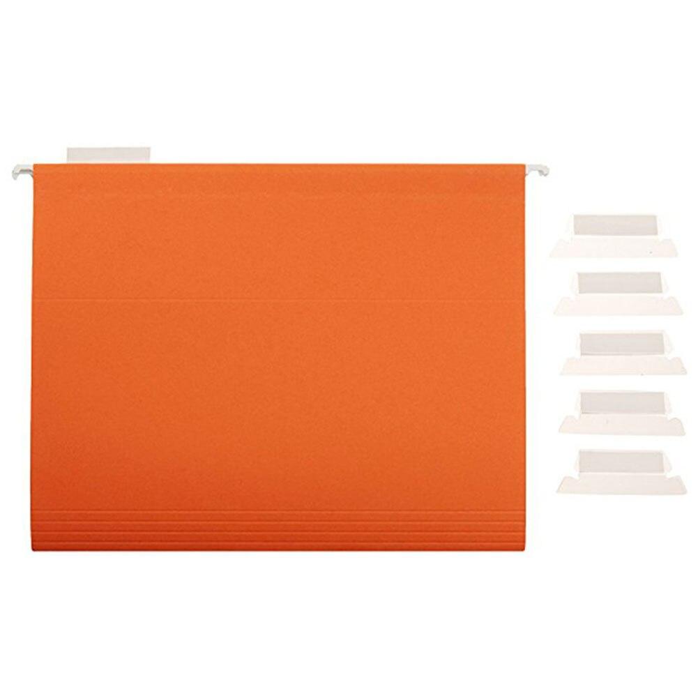 100pcs Convenient Crafts Professional Label File Index Transparent Film Office Smooth Bendable Hanging Durable PVC