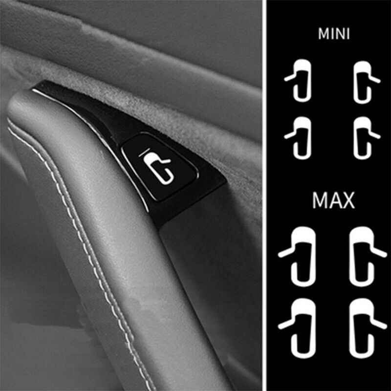 8 ピース/セット車のドアオープン終了ステッカーデカールテスラモデル 3 インテリア装飾のためのフィット