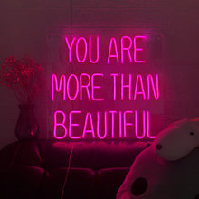 Hdj знак «you are more than beautiful neon светильник» неоновые