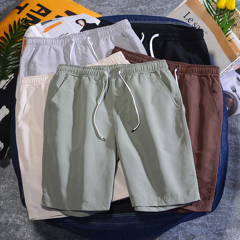 BOLUBAO Men Casual Shorts Summer New Men's Solid Color Fashion Straight Shorts Trend Brand Breathable Wild Shorts Male