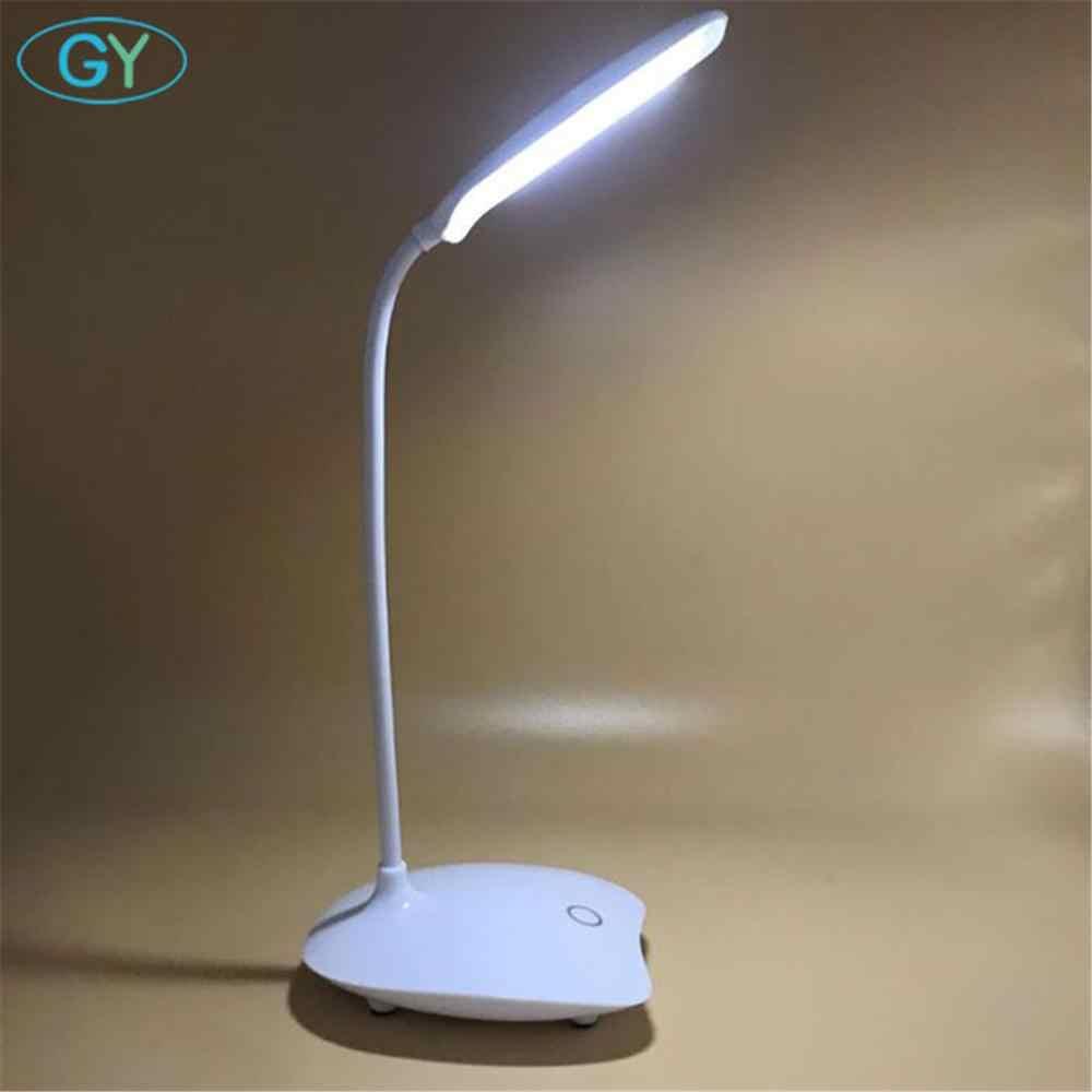 LED מנורת שולחן מתקפל Dimmable מגע שולחן מנורת DC5V USB מופעל שולחן אור 6000K לילה אור מגע עמעום נייד מנורה