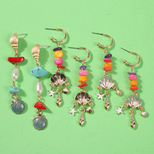 2019 Rushed Brinco Oorbellen European And American Popular Holiday Style New Earrings Imitating Pearl Alloy Color Natural Long