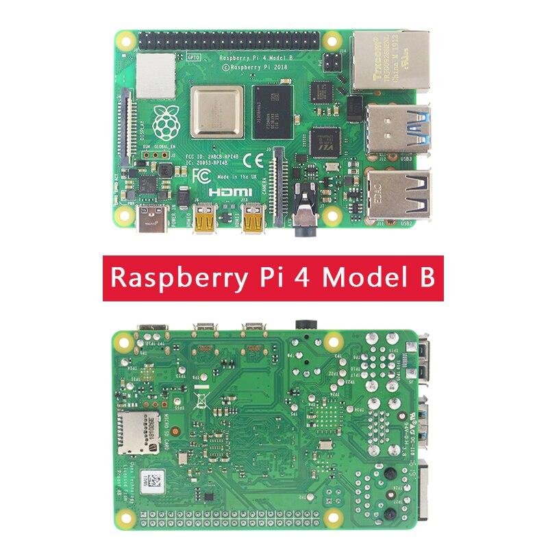 Dernière Raspberry Pi 4 modèle B 1/2/4GB RAM 1.5GHz BCM2711   boîtier   ventilateur   dissipateur de chaleur   adaptateur secteur   carte SD 32 64 go   Micro HDMI - 2