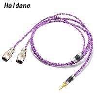 Haldane hifi 2.5/3.5/4.4/6.35mm/4pin xlr 밸런스드 이어폰 헤드폰 업그레이드 케이블 (mr 스피커 용) ether alpha dog prime