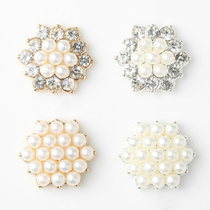 Best Selling Shiny Alloy10pcs/ set Rhinestone Pearl Jewelry Decorations Holiday Handmade Creative Products Accessories Wholesale