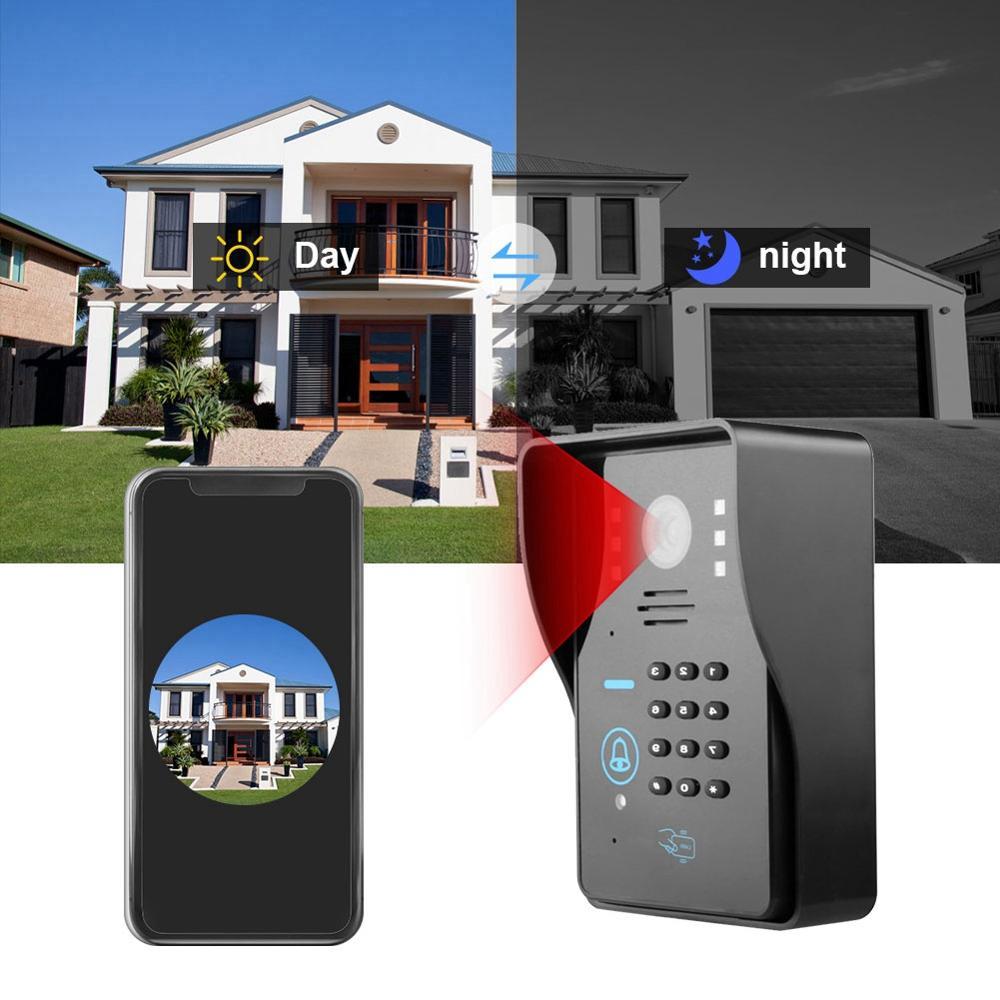 Doorbell Camera Wireless Rainproof Remote Control Smart Video Door Phone Doorbell with NO Lock 110-240V deurbel