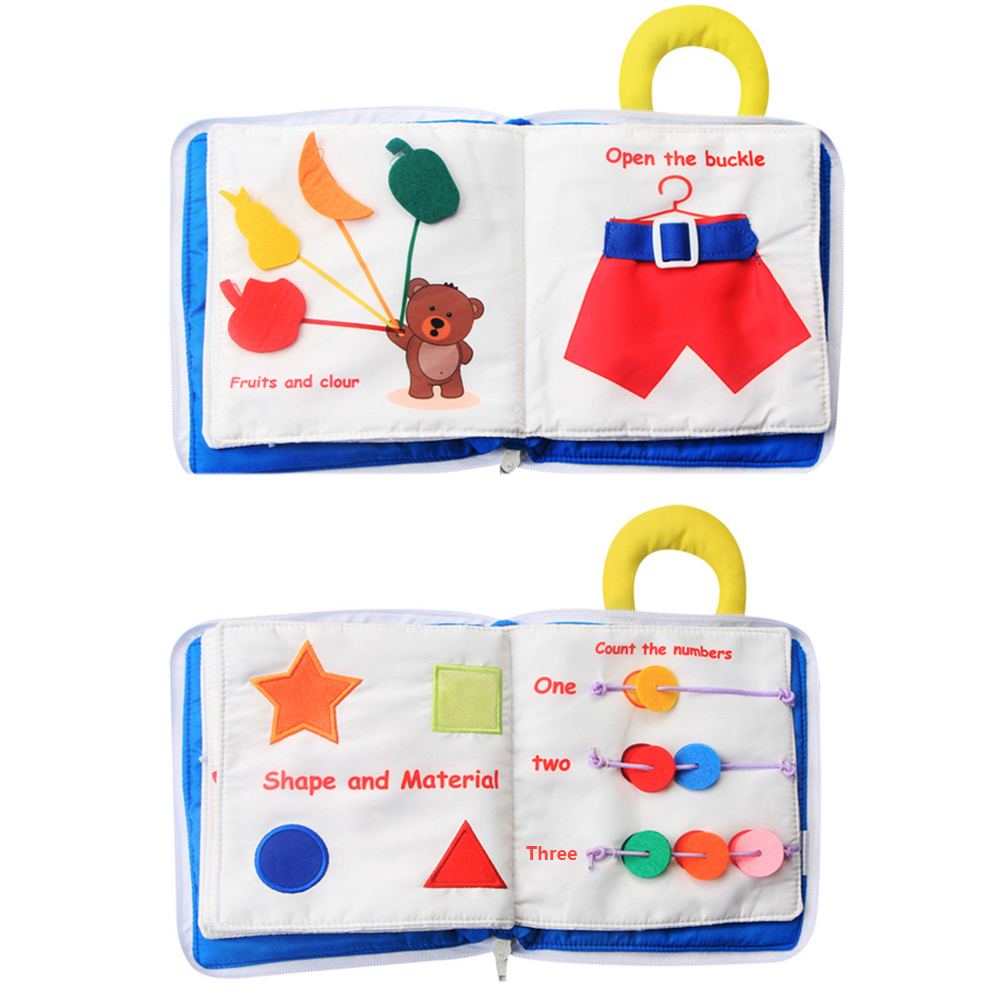 Baby Cloth Book Soft Washable 3D Parent-Children Interactive My First Book Practice Hand Early Learning Educational Quite Books 3