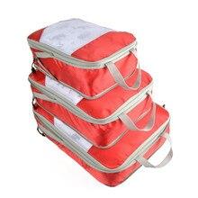 LKEEP ECO 3PCS/SET Travel Compression Packing Cubes, Luggage Suitcase Organizer Hanging Storage Bag Premium Cloth Nylon Solid