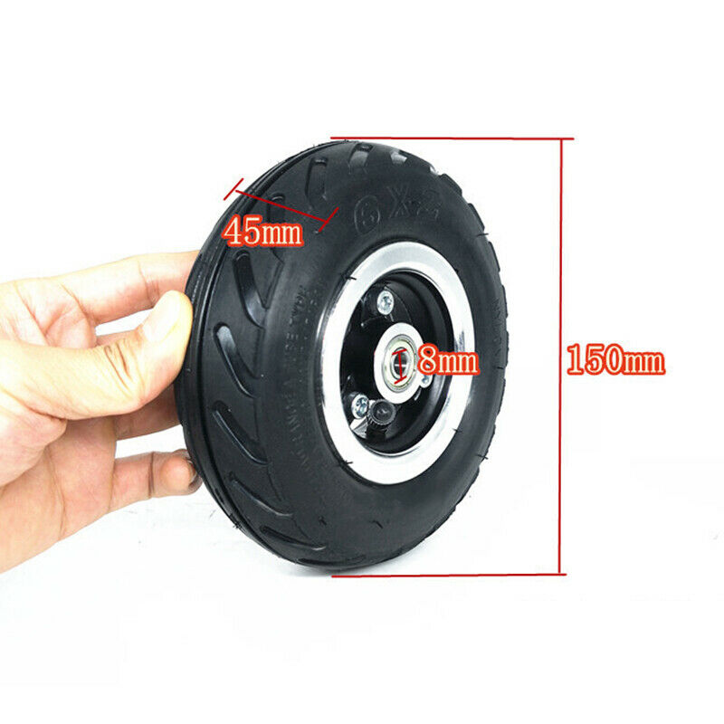 4Pcs 6 X 2 Inch Pneumatic Air Wheel Tyre Tire For Electric Scooters Accessories