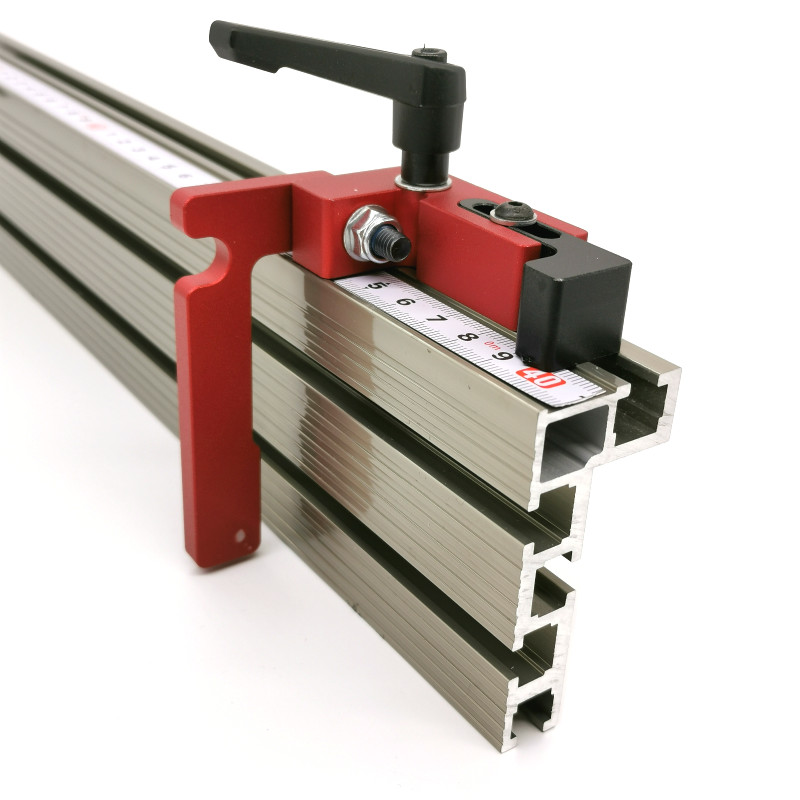 600mm/800mm Aluminium Profile Fence 74mm Height With T-tracks And Sliding Brackets Miter Gauge Fence Connector For Woodworking