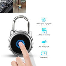 JWM Fingerprint Padlock Smart Door Lock Anti-Theft Security Keyless Electric Lock USB Rechargeable IP65 Waterproof Lock