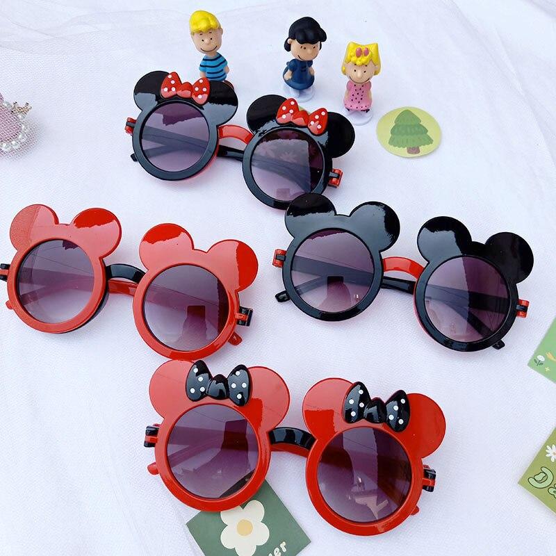 Disney mickey mouse óculos de sol crianças óculos de sol em forma de clamshell decorações de festa para presentes de aniversário das crianças