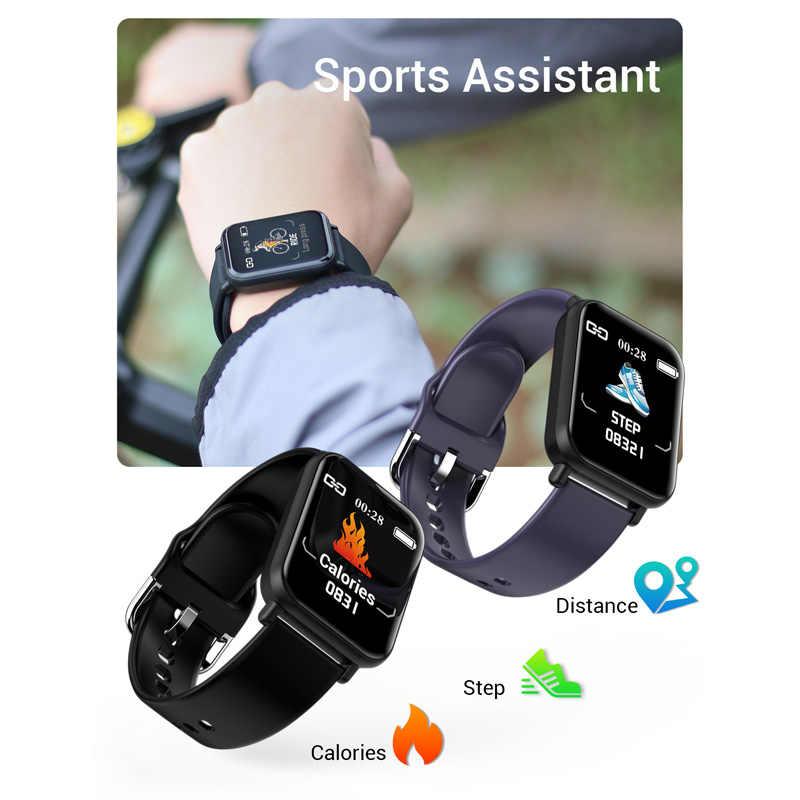 ساعة رياضية ذكية R16 أندرويد IOS معدل ضربات القلب ضغط الدم أوكسي سوار النوم جهاز تعقب للياقة البدنية الرجال النساء اللون دعوة رسالة الفرقة
