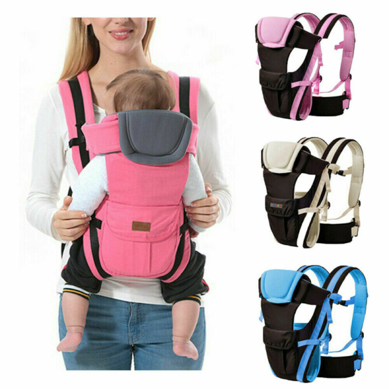 Newborn Infant Baby Carrier Breathable Durable Ergonomic Adjustable Wrap Sling Backpack For Mom And Dad
