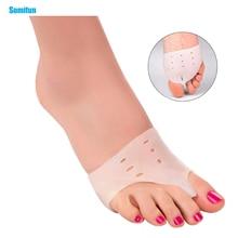 2 шт. исправление вальгусной деформации первого пальца стопы ортопедии ногу массажер разделитель для пальцев ноги корректирующие стельки для пальцев; приспособление для разделения пальцев забота о ногах, Z24601