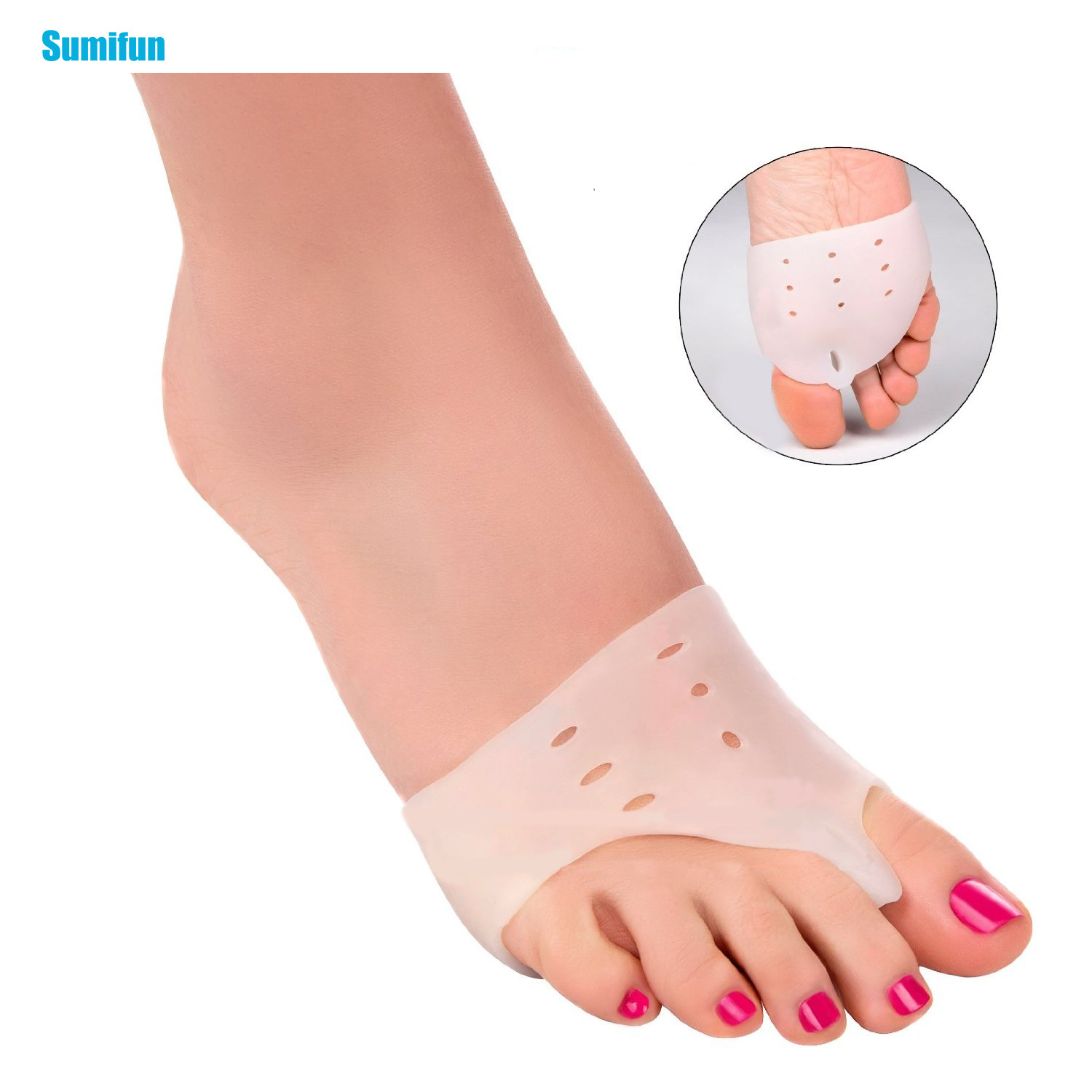 2Pcs Hallux Valgus Orthotics Foot Massager Toe Separator Corrective Insoles Toes Cloven Device Feet Care Z24601