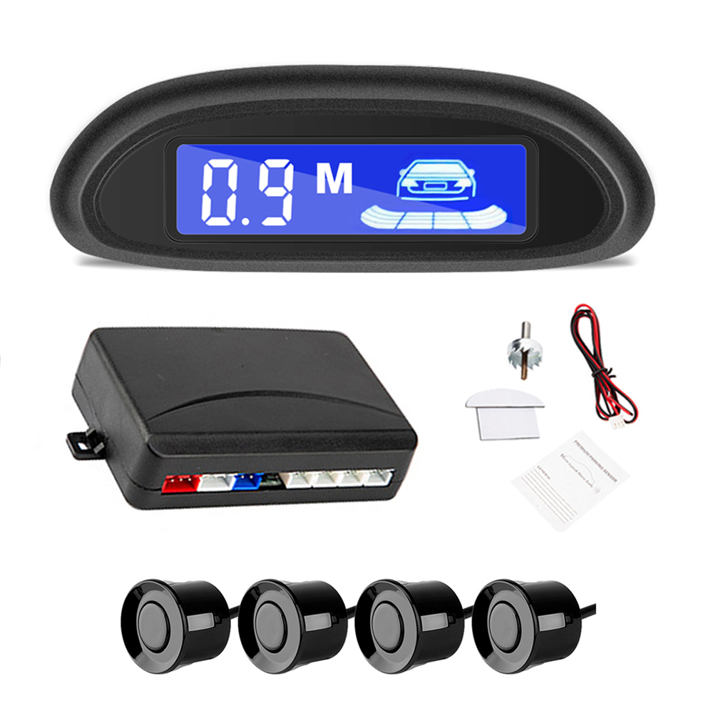 Car Auto Parktronic LED Parking Radar With 4 Parking Sensors Backup Car Parking Radar Monitor Detector System Backlight Display(China)