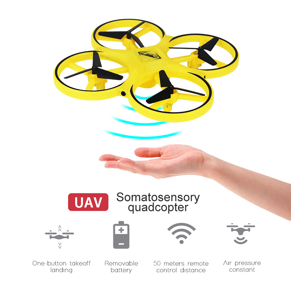 Image 4 - Mini Drone UFO Induction racing Quadrocopter Smart Watch Remote Gesture RC Aircraft Somatosensory Plane helicopter uav RC Toys-in RC Helicopters from Toys & Hobbies