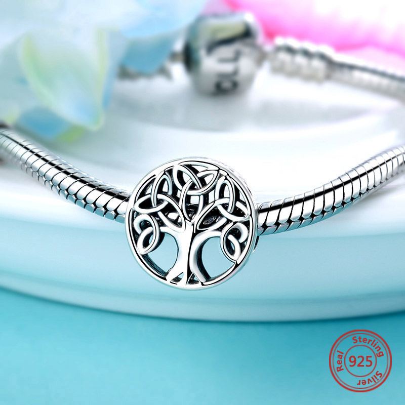 Hot Sale 100 Real 925 Sterling Silver Tree Of Life Beads Fit Original Pandora Diy Charm Bracelet Fashion Jewelry Free Shipping Beads Aliexpress