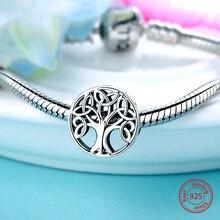 Fashion Jewelry Diy Charm Hot-Sale Original Pandora Bracelet Tree-Of-Life-Beads 925-Sterling-Silver