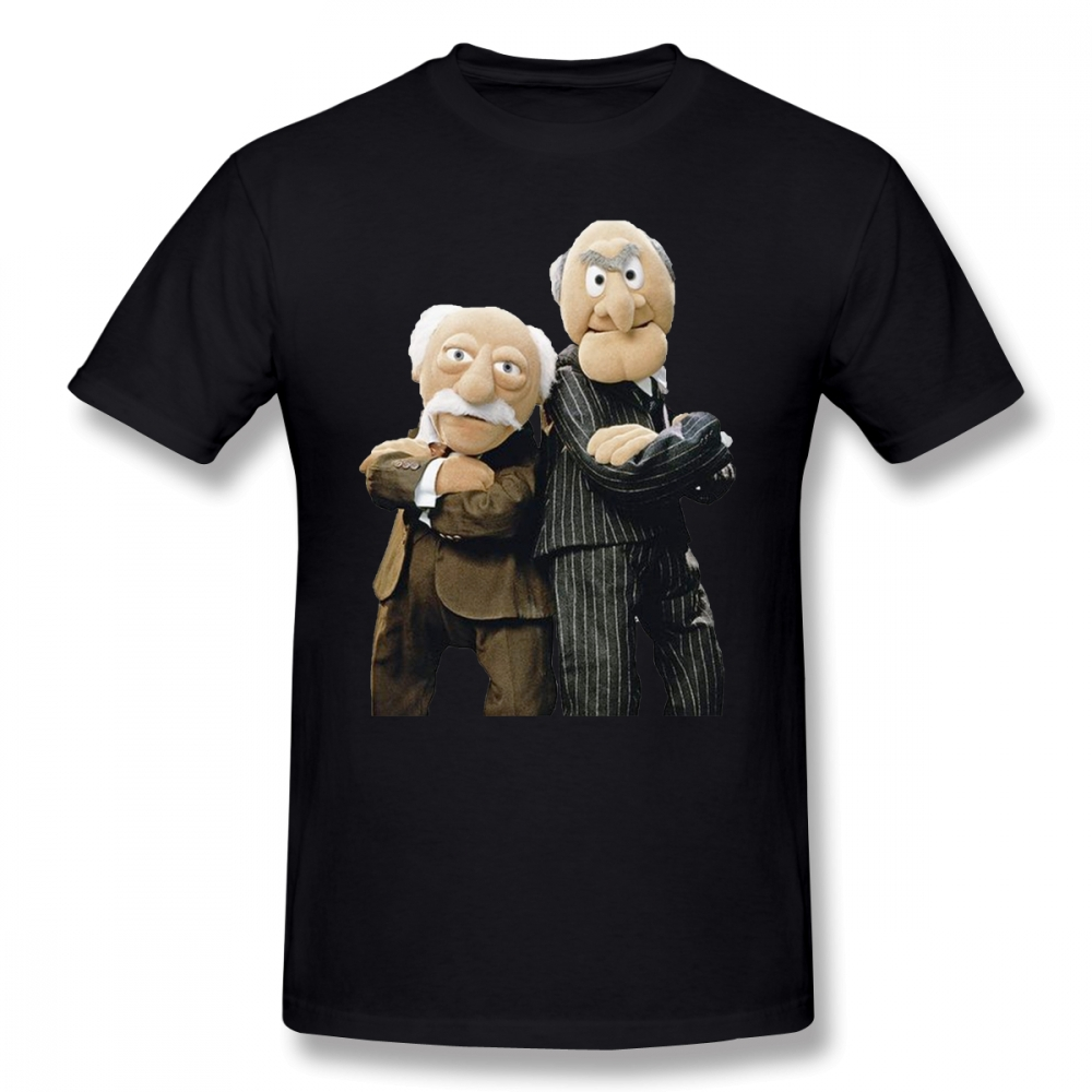 Muppets T Shirt Statler And Waldorf T-Shirt Fashion Short Sleeves Tee Shirt Mens Printed 100% Cotton Plus Size Tshirt