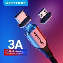Vention المغناطيسي كبل شحن 5A 3A كابل USB صغير للشحن السريع المغناطيس USB نوع C شحن بيانات سلك للهاتف المحمول سلك USB