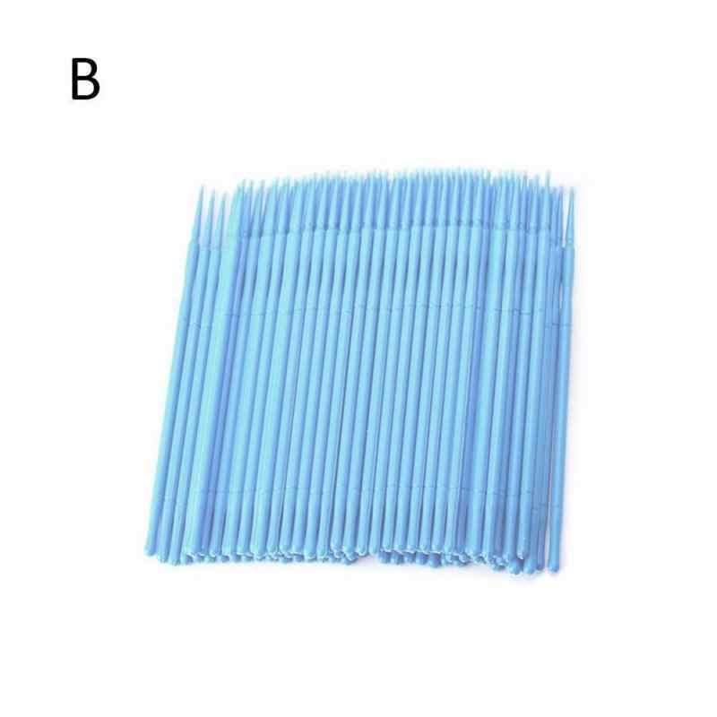 100 шт одноразовая Make Up индивидуальная щетка для ресниц для наращивания ресниц ватные тампоны Аппликаторы кисти Cosmestic кисть Аппликаторы