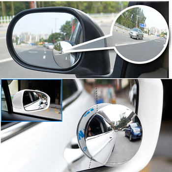 2pcs/1pc Blind Spot Removal Mirror 360 Degree Framless Wide Angle Round Convex Mirror Side Blind Spot Rear View Parking Mirror image