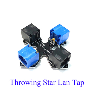 Passive Lan Tap Throwing Star Lan Tap 1.5 Ethernet Communication Tool Packet Capture Mod Replica Monitoring Rj45 Connector(China)