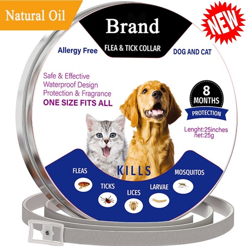 Pets Dog Cat Adjustable Anti-parasites Collars Mite Protection Fleas Ticks Lices Forceps Mosquitos Control Reject Fits All Size