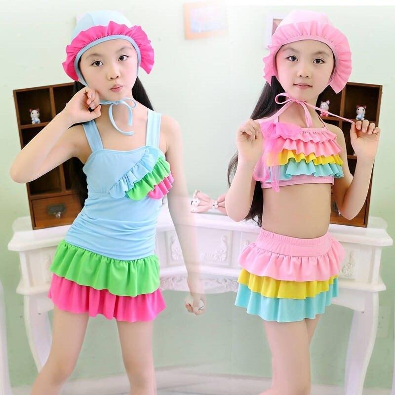 KID'S Swimwear GIRL'S Little Princess-Small CHILDREN'S Young STUDENT'S Swimming Suit GIRL'S Kids Split Type Girls
