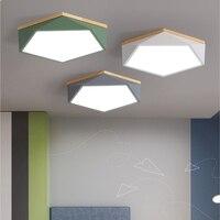 New modern fashion LED light geometry LED Ceiling lamp for Children's room living room Bedroom kitchen office study AC85V 260V
