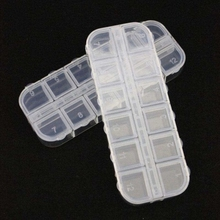 Clear Jewelry Rhinestones Box(5 Pack) Bead Storage Organizer, 12 Compartments Each