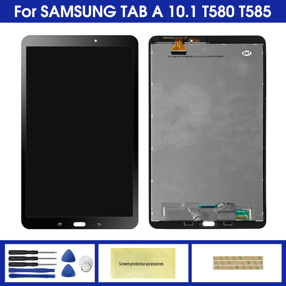 For Samsung Galaxy Tab A SM-T580 SM-T585 T580 T585 LCD Display Touch Screen Digitizer Assembly Replacement Display Screen