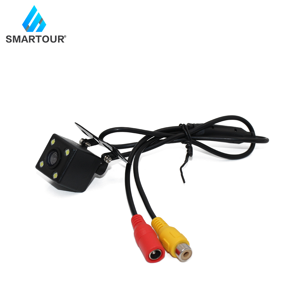 Smartour Car Rear View Camera Universal 4LED Night Vision Backup Parking Reverse Camera Waterproof Wide Angle HD Color Image