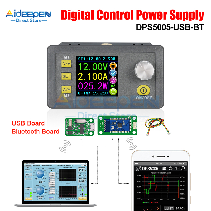 DPS5005 5015 5020 50V 5A Communication Constant DC-DC LCD Voltage Current Step-down Power Supply Module Buck Voltage Converter