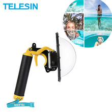 "TELESIN 6 ""Dome Poort 30M Waterdichte Case Drijvende Trigger Dome voor SJCAM SJ6 SJ7 Actie Camera Lens Cover behuizing Accessoires"