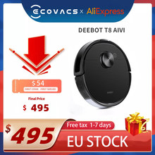 EU STOCK Original ECOVACS DEEBOT T8 AIVI Vacuum Cleaner Robot with OZMO Pro APP Function English speaking China Version
