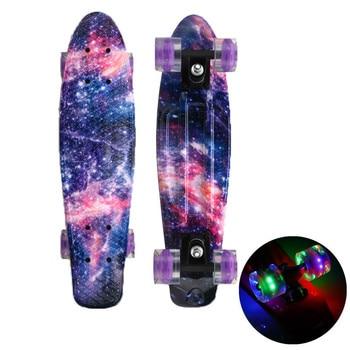 Mini Tabla de Skate de 22 pulgadas, Pennyboard Galaxy Starlight, Longboard, Con...
