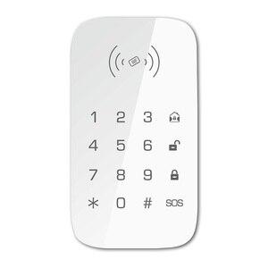 Image 2 - Teclado inalámbrico para sistema de seguridad de casa inteligente teclado de extensión para alarma de incendio antirrobo panel de control host compatible con etiqueta para llave RFID
