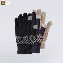Youpin FO doigt écran tactile gants pour femmes hommes hiver chaud velours gants pour écran téléphone tablette anniversaire/noël cadeau