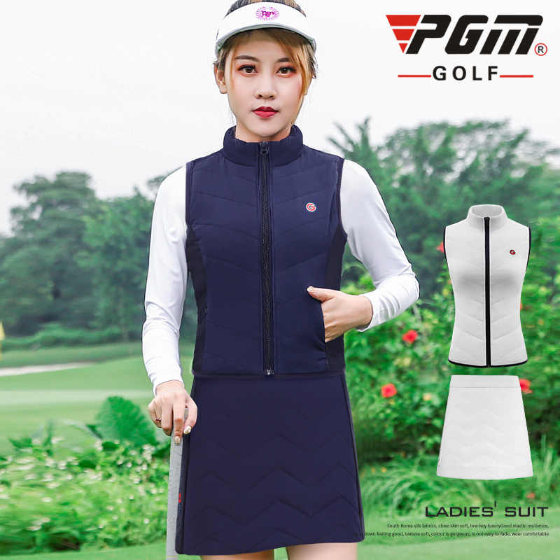 Pgm Golf zagęścić ciepłe ubrania garnitur kobiety bez rękawów kurtka kamizelka zestaw aksamitne spodenki spódnica pani Golf tenis odzież sportowa moda nosić