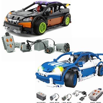 Technic The Racing Car with Power Function Motor 593PCS Building Blocks Toys for Children Compatible for GSBAN Technic Car