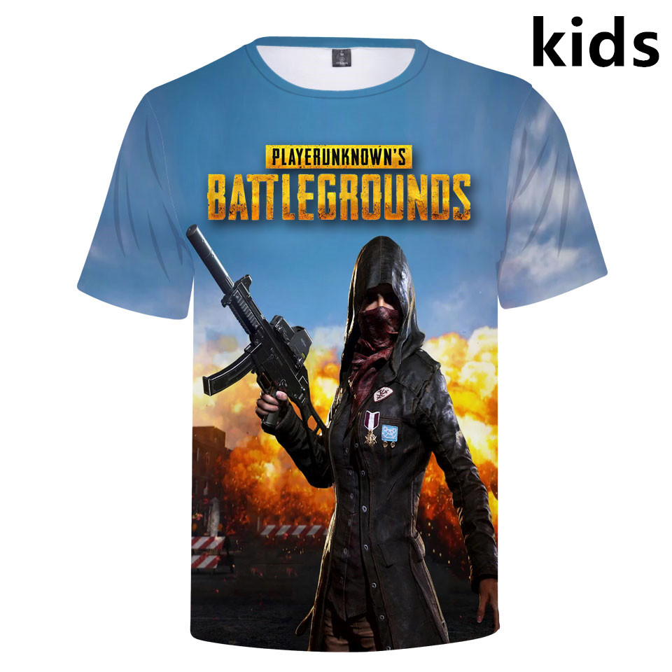 3 To 14 Years Kids T Shirt PUBG Game 3D Printed T-shirt Boys Girls Player Unknown's Battlegrounds Tshirt Tee Children Clothes